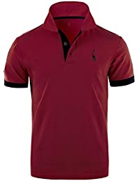 GLESTORE Mens Polo Shirts Giraffe MT1030 Golf Tennis T-Shirt