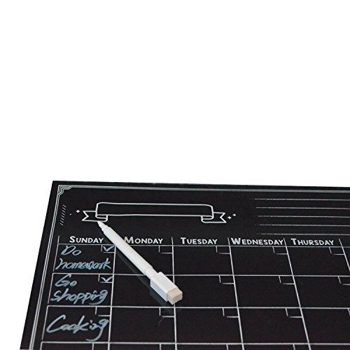 Magnetische Kühlschrank Kalender Dry Erase Board Planer Kalender für Küche Kühlschrank mit gratis Magnetic Dry Erase Marker enthalten (schwarz 420* 300mm)
