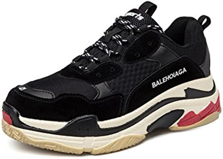 Hombres Corriendo Entrenadores Para caminar Respirable Choque Absorbente Grueso Fondo Zapatos Atlético Zapatillas