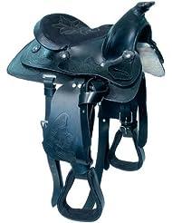 Sillín Western caballo (16') negro Indiana.