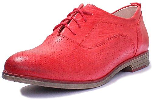 Justin Reece 5000, Scarpe stringate donna Red