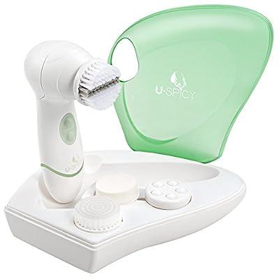 Gesichtsreinigungsbuerste Gesichtsbuerste Hautreinigung Gesichts-Massagegeraet Minimiert Poren Entfernt Mitesser Verbessert Teint Elektrisch Wasserdicht IPX5 mit Etui von USpicy.