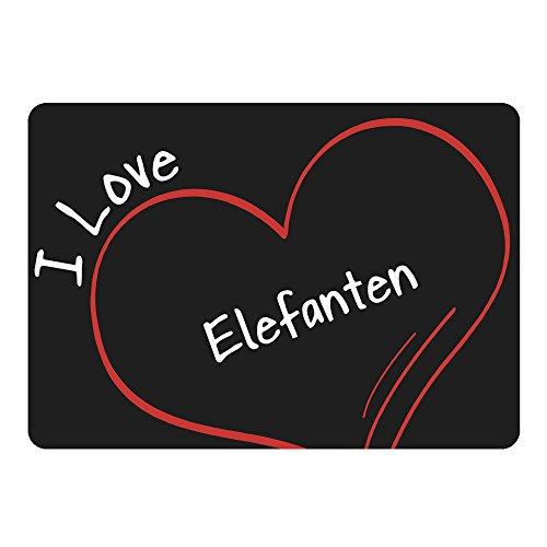 Ratón modern I Love elefantes negro