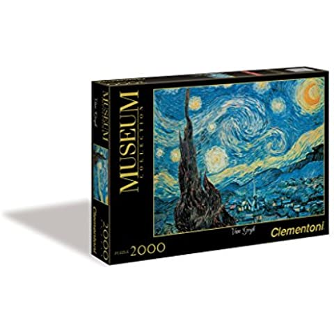 Clementoni - Puzzle de 2000 piezas, Great Museum, diseño Van Gogh: Noche Estrellada (325313)