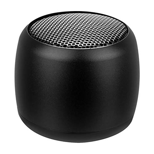 Foroner Wireless Mini Bluetooth Lautsprecher mit Bass Kühler kleine, Aber Laute tragbare Lautsprecher für zu Hause im Freien Dusche (Schwarz) -