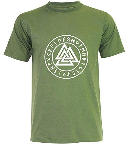 PALLAS Men's Valknut Symbols T Shirt Junglegreen