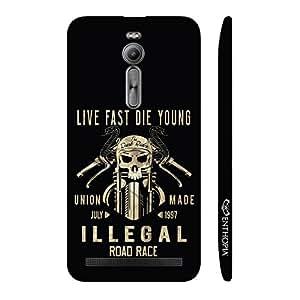 Enthopia Designer Hardshell Case Live Fast Die Young Back Cover for Asus Zenfone 2