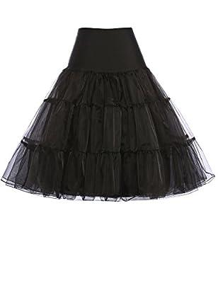 GRACE KARIN® Womens 50s Vintage Petticoat Crinoline Underskirt Slips 12 Colors