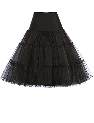 Trim Hoop (Belle Prom Dress Damen Rock Gr. L, Schwarz - Schwarz)