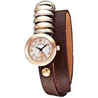 U.S. Polo Assn. Womens Quartz Watch, Analog Display And Leather Strap - USC40096