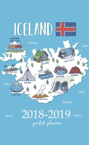 2018-2019 Pocket Planner: 2 Year Pocket Monthly Calenda Planner 4 x 6.5 inch iceland map art design: Volume 36 por Creative art planners