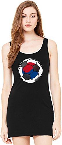 South Korea Football Bella Basic ärmellose Tunika Sleeveless Tunic Tank Dress For Women| 100% Premium Cotton| Large (South Drapieren)