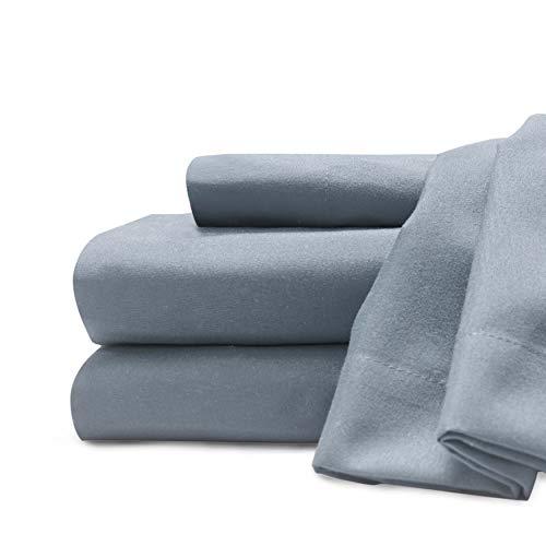 Baltischer Leinen Company 0369018330Weich und Cozy Easy Care Deluxe Mikrofaser Spannbetttuch-Sets, Königin, blau