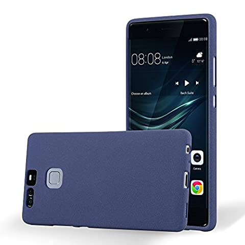 Cadorabo - Ultra Slim TPU Frosted Mate Coque Gel (silicone) pour Huawei P9 - Housse Case Cover Bumper in FROSTED-BLEU-FONCÉ