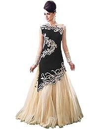 G Stuff Fashion Women Velvet semi-Stitched Lehenga Choli (TAA_Black_Zoya_3_Free Size)