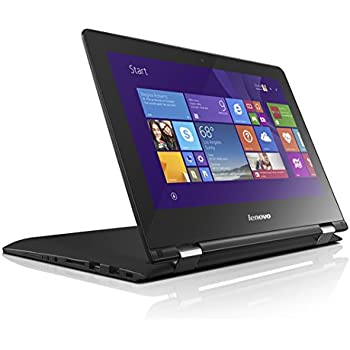 "Lenovo Yoga 300-11IBR - Portátil de 11.6"" HD (Intel N3060 a 1.6 GHz, 2 GB de RAM, SSD 32 Gb EMMC, Windows 10) negro - teclado QWERTY español"
