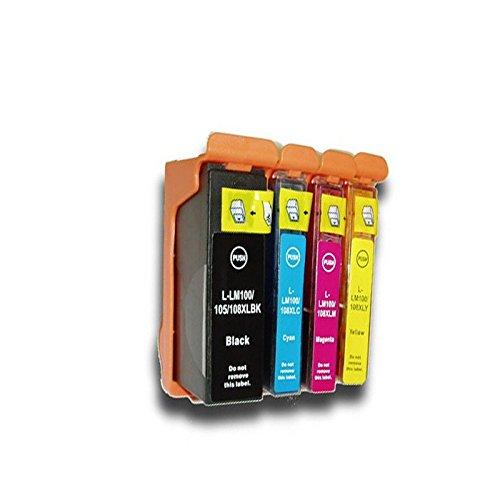 yatunink (TM) Combo Set kompatibel Tintenpatrone Lexmark 100X L 100XL 4PACK passend zu Lexmark Drucker: Pinnacle Pro901Genesis S815Genesis S816Platinum Pro905Prospect Pro205Institution S505ect (4k Magenta Toner)