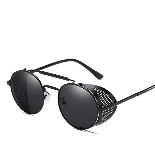 BiuTeFang Europäische und amerikanische Steam Punk-Brille Persönlichkeit Windschutzscheibe Sonnenbrille Retro-Farbe Film reflektierende Shing