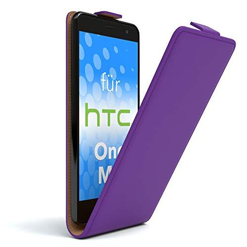 EAZY CASE HTC One (M8) / (M8s) Hülle Flip Cover zum Aufklappen, Handyhülle aufklappbar, Schutzhülle, Flipcover, Flipcase, Flipstyle Case vertikal klappbar, aus Kunstleder, Lila