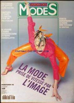 JARDIN DES MODES [No 190] du 01/04/1996 - TELEVISOIN - LES EFILES AUDI-MATES - COUTURE ET PRET-A-PORTER - JACQUES HONDELATTE - PHOTO EUROPEENNE A PARIS.