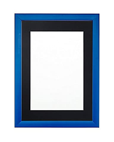 Blue Rainbow Color Range Picture/Photo/Poster frame with Black Mount- With
