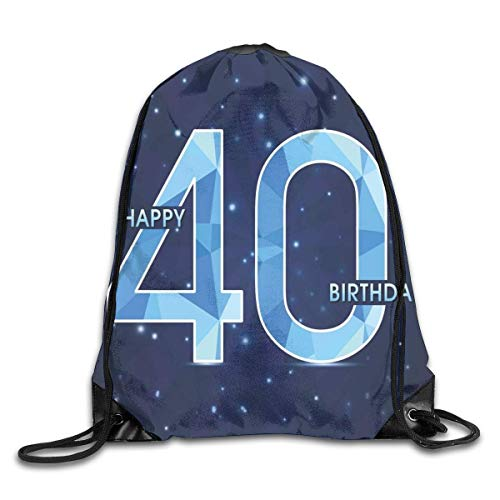 ckpack 40th Birthday Gifts Fitness Large Capacity Shoulder Drawstring Bags ()
