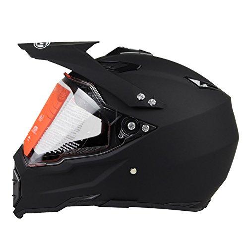 Woljay Off Road Helm Motocross-Helm Motorradhelm Motocrosshelme Fahrrad ATV Mattschwarz (S)