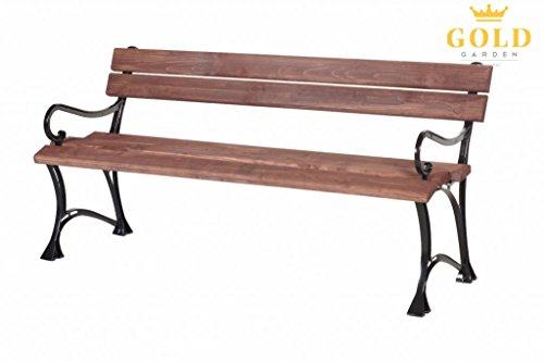 GOLD GARDEN G02009 Gartenbank Toskana aus nußfarbenem Fichtenholz 180 cm für 4 Personen