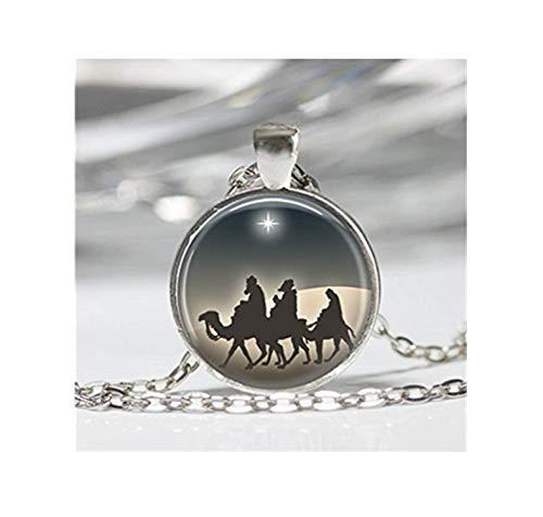 Krippe Kostüm Weisen - Drei Weisen Krippe Star of Bethlehem Art Anhänger