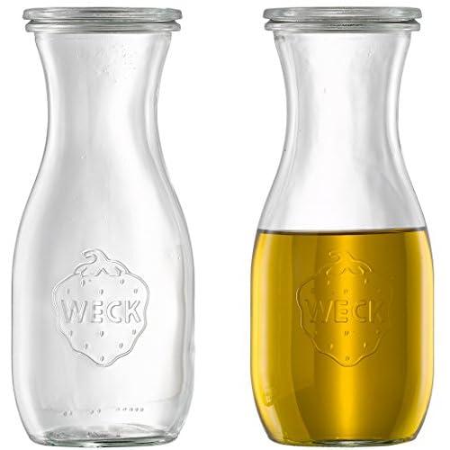 6 X Weck Dressingflasche Lflasche Essigflasche Dekoglas Inkl Deckel 530 Ml