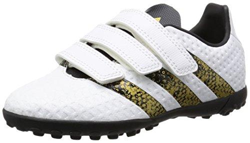 adidas Ace 16.4 Tf J H&L, Chaussures D'entraînement de Football Garçon Blanc (Ftwr White/core Black/gold Metallic)