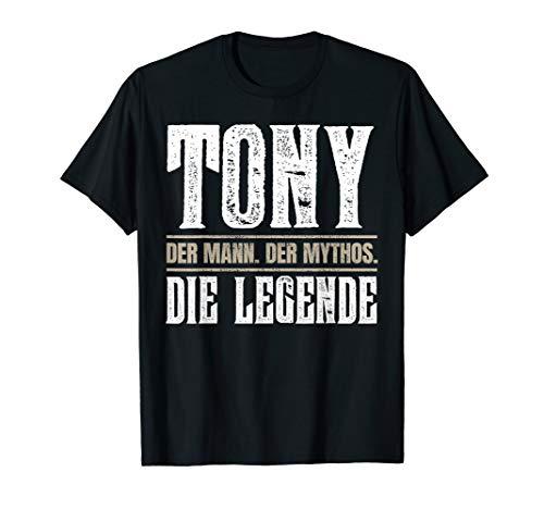 Vorname Tony T-Shirt Geschenk Name Tony