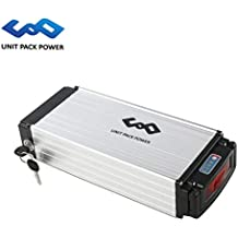 uppcycle Batería de Litio para Bicicletas eléctricas, 36V 20AH / 13AH Rack Battery + Taillight