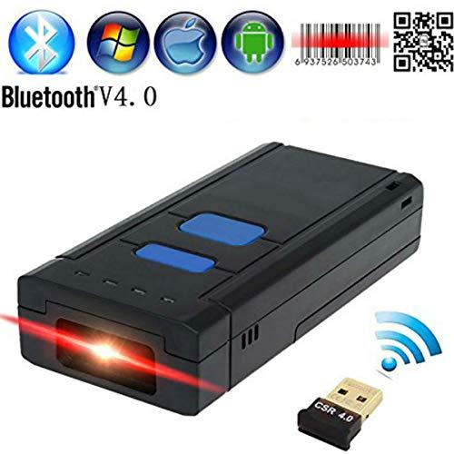 Hangang 2D BLUETOOTH Barcode Scanner Tragbare Wireless Handheld CMOS Barcode Scanner Reader für POS/Android/IOS/iMac/iPad mit Bluetooth 4. 0Empfänger