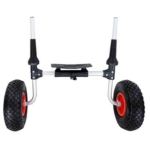 MultiWare Chariot de Transport pour Bateaux Canoë ou Kayak Pliable en Aluminium Transport de Bateau de Canoë Pneumatiques Capacité Max.80 KG