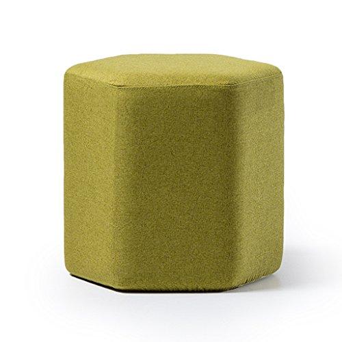 Tabouret en bois massif multi-usages multicolor canapé tabouret maquillage tabouret reste tabouret amovible lavage 42 * 40cm (Color : Green)