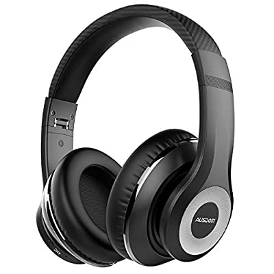 AUSDOM ANC10 Active Noise Cancelling Headphones, Wireless Headphones Bluetooth 5.0 Hi-Fi Stereo Deep Bass Headset Over Ear with Built in Microphone, Foldable Earphones for iPhone Cell Phones Laptop