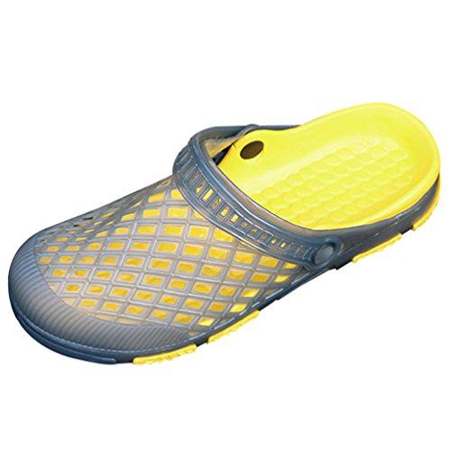 YiLianDa Homme Jardin Plage Cour Piscine Mule EVA Sabot Chaussure Gris