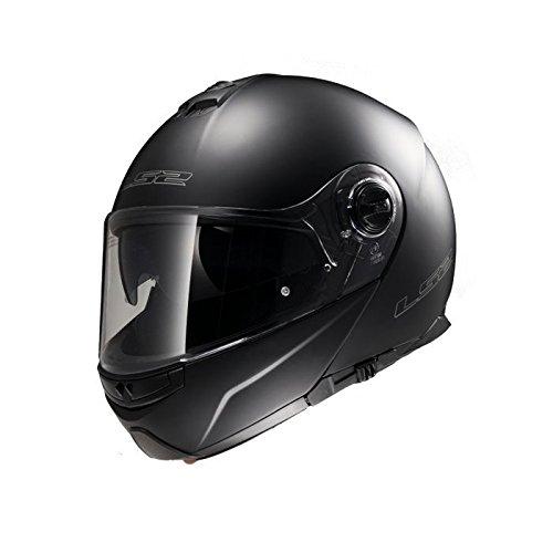 LS2 FF325 Strobe Solid Klapphelm, Farbe matt-schwarz, Größe XL (61/62)