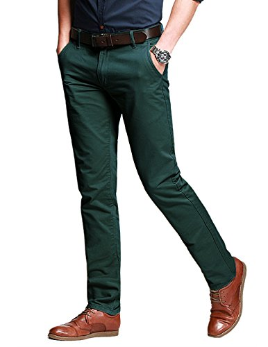 Match Herren Slim Casual Hose #8025 8025 Dunkel moss gruen