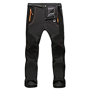 pantalones: YiLianDa Pantalones de Trekking Softshell Pantalones Impermeables Resistente Pan...