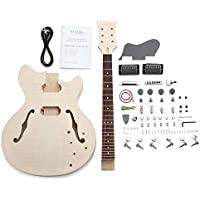 """Rocktile DIY HB Bausatz E-Gitarre (""""Do-it-yourself"""" E-Gitarre Bausatz HB-Style, Korpus: Linde, Hals: Ahorn geschraubt, Griffbrett: Palisander)"""