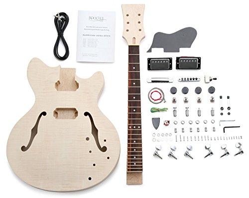 Rocktile 00038313 DIY HB-Style Bausatz E-Gitarre (Do-it-yourself, Linde, Ahorn geschraubt, Palisander)