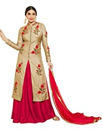 Crazy Cotton Indo Western Salwar Suits For Women Semi Stitched /UnStitched