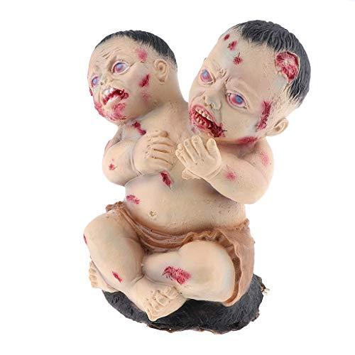 Fenteer Horror Zombie Baby Deko Figur Halloween Zubehör und Spielzeug für Haus Spukhaus und Bar
