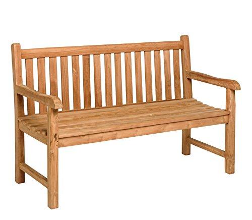 Schlichter Möbel Tierra Gartenmöbel Gartenbank Cordoba Teak 2 - Sitzer (120 cm)