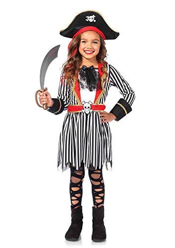 Piraten Mädchen Sexy Kostüm - Leg Avenue C48147 - Piraten-Kapitän Kostüm, Größe Large (EUR 146-158)