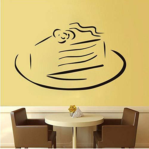 Lvabc Küche Wand Schablone Süße Kuchen Auf Einer Platte Wandaufkleber Diy Vinyl Klebstoff Home Decals Kunst Poster Sofa Wand Dekoration 44X27 Cm