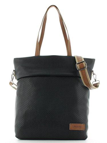 (Prato Damen Shopper Schultertasche Citytasche Frauentasche Freizeittasche S795)