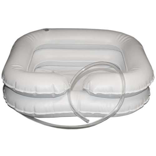 Haarwaschbecken Harwaschwanne für bettlägerige Menschen - aufblasbar 2-reihig (Aufblasen Reinigen)